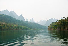 Landscape of Li River in Winter, Guilin, China Stock Photos