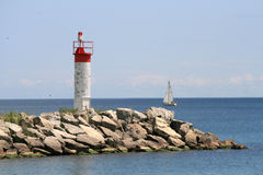 Landscape with Lighthouse Stock Photo