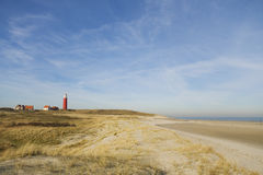 Landscape with lighthouse Stock Photos