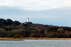 Landscape and lighthouse Dornbusch at Hiddensee island, Germany. Landscape and lighthouse Dornbusch at Hiddensee island Royalty Free Stock Image