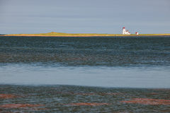 Landscape with lighthouse on Prince Edward Island Stock Photo