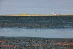 Landscape with lighthouse on Prince Edward Island Stock Photo
