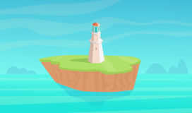 Landscape with lighthouse. Royalty Free Stock Photo