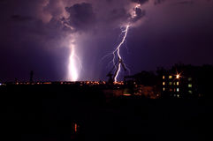 Landscape with lightning Stock Image