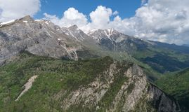 Ligurian Alps, Italy. Landscape from Ligurian mountains part of Italian Alps Royalty Free Stock Photography