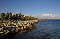 Landscape from limassol bay Royalty Free Stock Photos