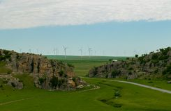 Landscape limestone rock formations Dobrogea Gorges, Romania. royalty free stock images
