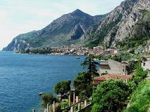 Landscape of Limone. The picture shows the landscape of Limone, Lake Garda, Italy Stock Photo