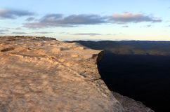 Landscape of Lincoln Rock Lookout with Grose Valley at sunrise Stock Images