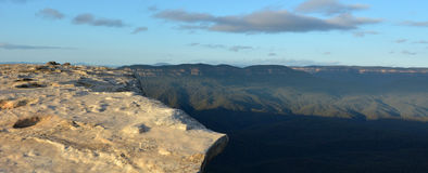 Landscape of Lincoln Rock Lookout with Grose Valley at sunrise Royalty Free Stock Photography