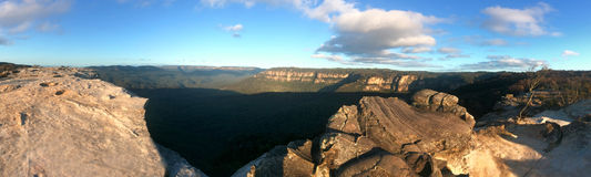Landscape of Lincoln Rock Lookout at sunset of the Grose Valley Stock Images
