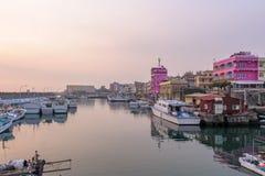 Landscape of Little Liuqiu, pingtung, taiwan. Sunrise at Baisha Port in Xiaoliuqiu, Taiwan royalty free stock images