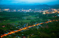 Landscape loei city. Beautiful landscape loei city background on mountain Royalty Free Stock Photo
