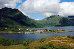 Landscape on Lofoten islands Royalty Free Stock Images