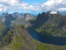 Landscape in the Lofoten islands Stock Image