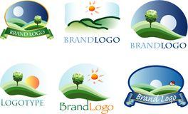Landscape logo Stock Photography