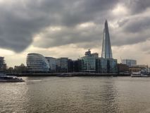Landscape in London city stock image
