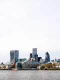 Landscape of London's skyscrapers with Thames river Royalty Free Stock Images