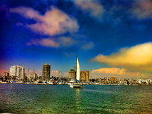 Landscape of long beach california Royalty Free Stock Photos
