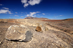 Landscape in los Ajaches, Punta Papagayo.Canary islands, Lanzaro Royalty Free Stock Image