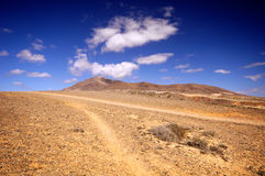 Landscape in los Ajaches, Punta Papagayo.Canary islands, Lanzaro Royalty Free Stock Photos