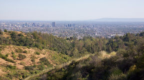 Landscape of Los Angeles Royalty Free Stock Photos