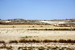 Landscape of Los Monegros in Aragon, Spain Royalty Free Stock Images