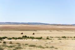 Landscape of Los Monegros in Aragon, Spain. A view of a typical dry landscape of Los Monegros in Aragon, Spain Stock Photos
