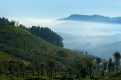 Landscape with low cloud Royalty Free Stock Photography