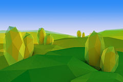 Landscape low poly Royalty Free Stock Photo