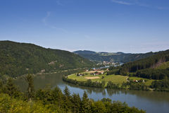 Landscape in Lower Bavaria. Showing the river Danube Stock Photography