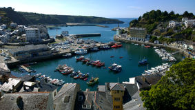 Landscape of Luarca in Asturias Royalty Free Stock Images