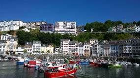 Landscape of Luarca in Asturias Stock Images