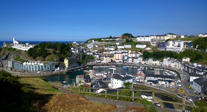 Landscape of Luarca in Asturias, Spain Stock Images