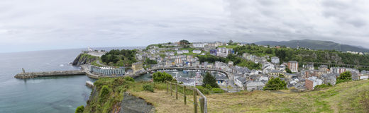 Landscape of Luarca Stock Images