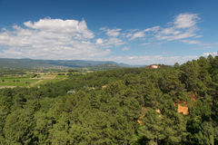 Landscape Luberon in France Royalty Free Stock Photography