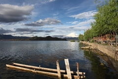 The landscape in Lugu Lake Royalty Free Stock Photos