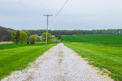 Landscape of lush farmland around southern york county pennsylvania royalty free stock image
