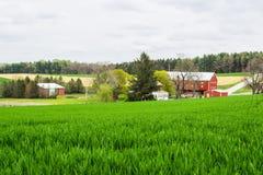 Landscape of lush farmland around southern york county pennsylvania stock photography