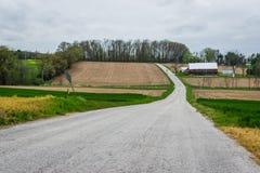Landscape of lush farmland around southern york county pennsylvania stock photos