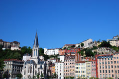 Landscape of Lyon city Stock Photography