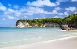 Landscape of Macao Beach. Popular touristic resort of Dominican Republic, Hispaniola Island Stock Photo