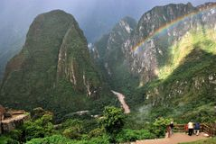 Scenery in Machu Picchu in Peru, royalty free stock image