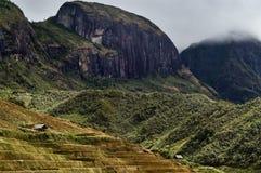 Landscape of Madagascar. Lush green landscape in mountains of Madagascar Stock Photo