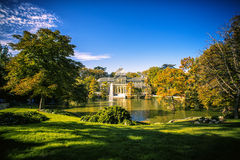 Landscape of Madrid: Crystal Palace in Retiro Royalty Free Stock Image