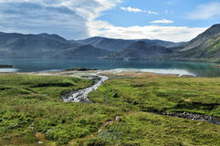 Landscape of Mageroya Island, Norway Stock Images