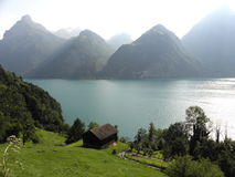 Landscape6. A magnificent mountain landscape for travelers to Switzerland Royalty Free Stock Photos
