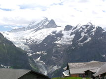 Landscape2. A magnificent mountain landscape for travelers to Switzerland Stock Photo