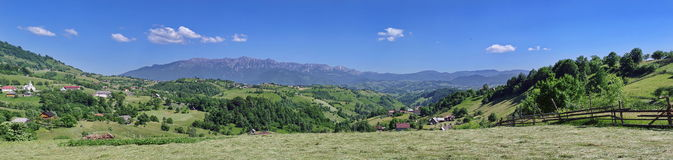 Panorama. Summer landscape in Magura village, Romania Royalty Free Stock Images