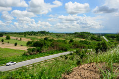 Landscape and main  road at rayong  Province Royalty Free Stock Images